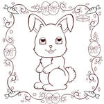 Easter Bunny 2020 Colouring Page by HaruRyomaru86