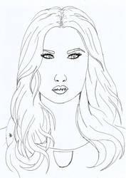 Auto-retrato com Contorno by lara3moon