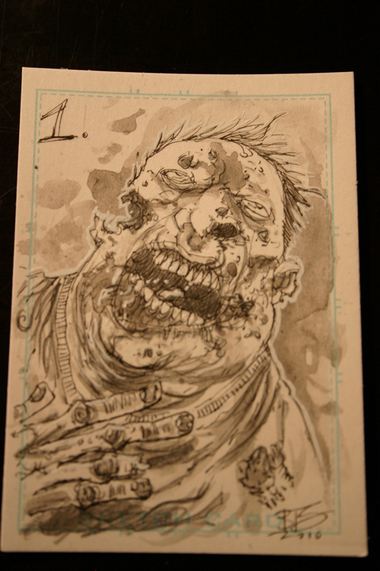 Zombie card 1 by Templesmith