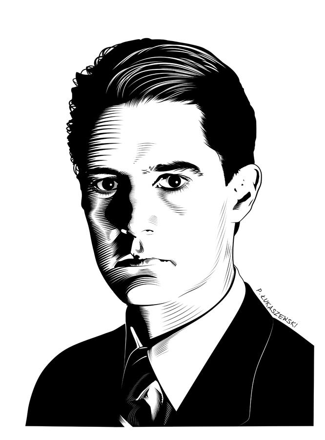 AGENT DALE COOPER [ TWIN PEAKS ] - portrait by P-Lukaszewski ... - kyle_maclachlan_twin_peaks_dale_cooper2_by_p_lukaszewski-d7p1ddl