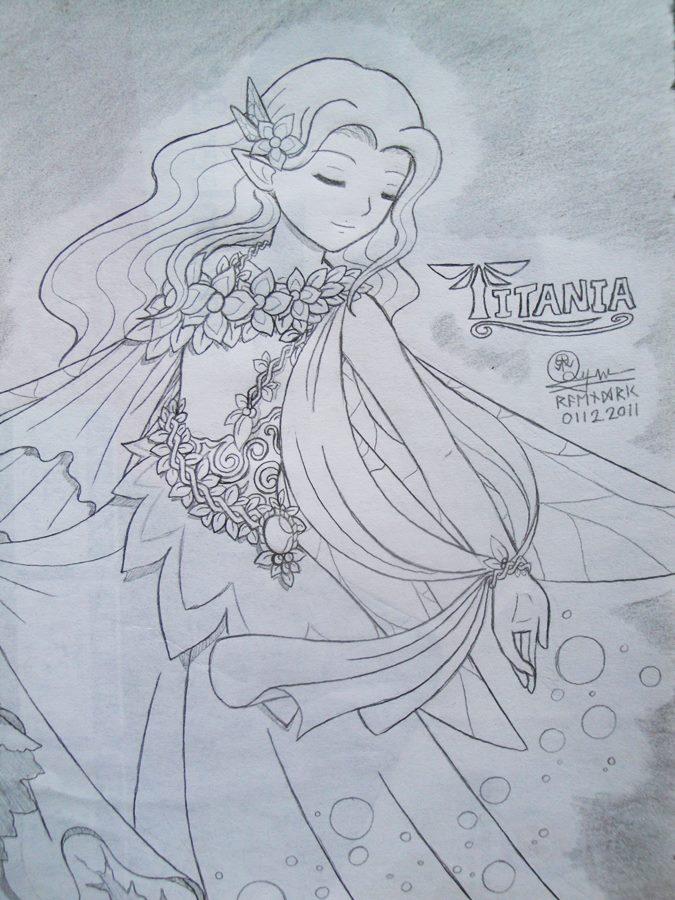 Titania , the Queen of Fairies by Raendric