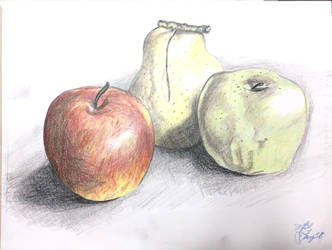Color-pencil Lesson 001: 3D still objects by Fraulein-TrueNight