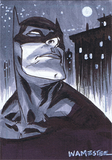 The Bat-Man Sketchcard by jeffwamester