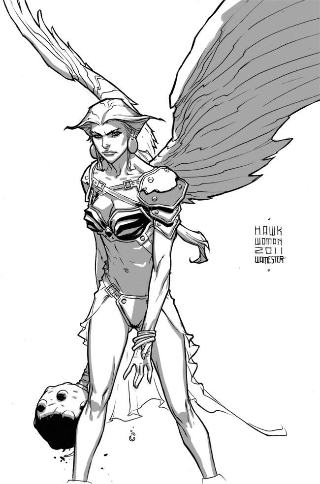 Hawk Woman by jeffwamester