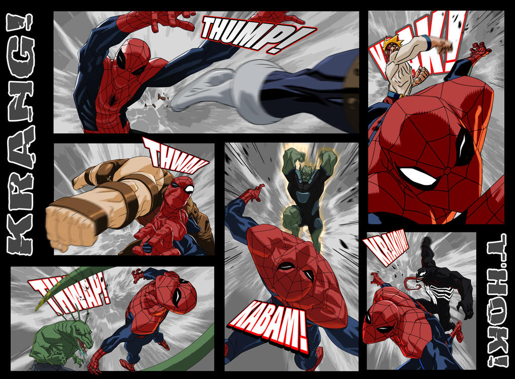 USM203 Spiderman Beatdown Comic Page by jeffwamester