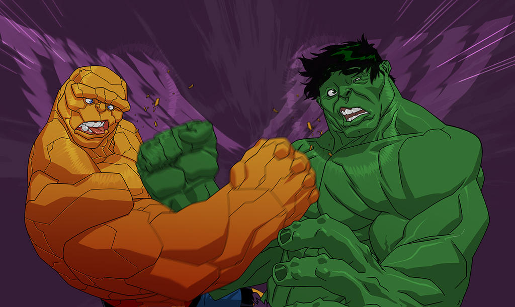 USM214 Hulk vs Thing Punch Out by jeffwamester