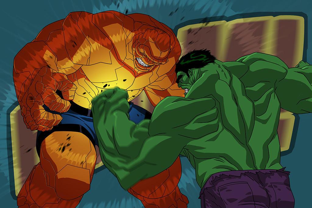 USM214 Hulk v Thing Punch 02 by jeffwamester