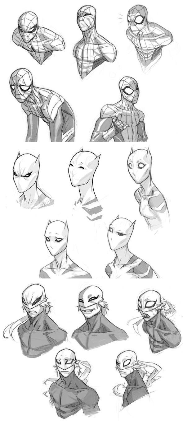 Cartooning Ultimate Character Design Book : Usm expressions sheets by jeffwamester on deviantart