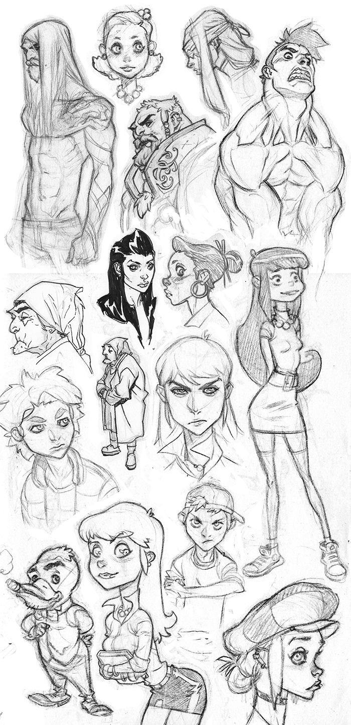 Stylin' Sketch Dump 20140126 by jeffwamester