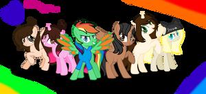 Art Trade-2 Rainbow Team by xXKawailLoverChanXx