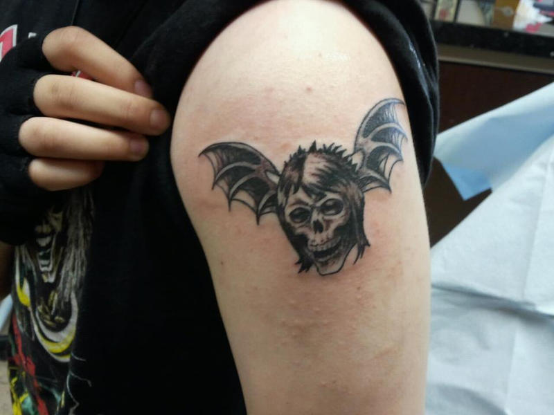 Jimmy deathbat tattoo by shaolinfeilong