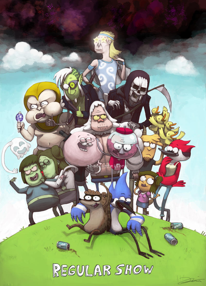 Cartoon 5 Characters : Regular show by shaolinfeilong on deviantart