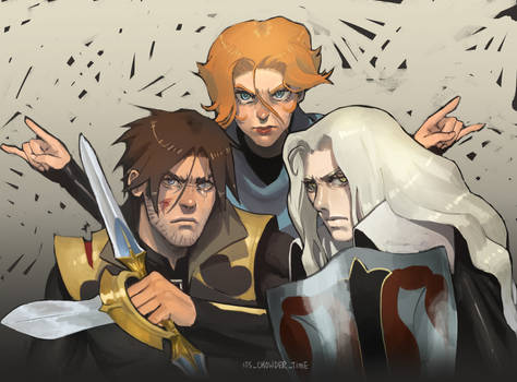 castlevania trio (redraw)