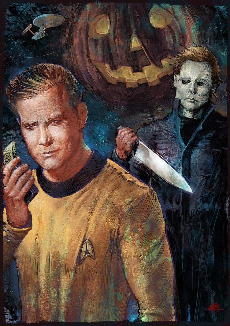 Captain Kirk's Halloween by Kid-Eternity