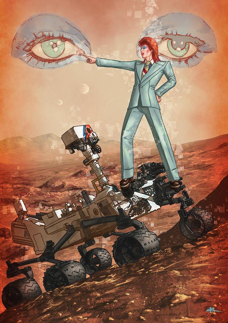 Bowie on Mars by Kid-Eternity