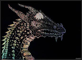 Rainbow dragon by Eleithel
