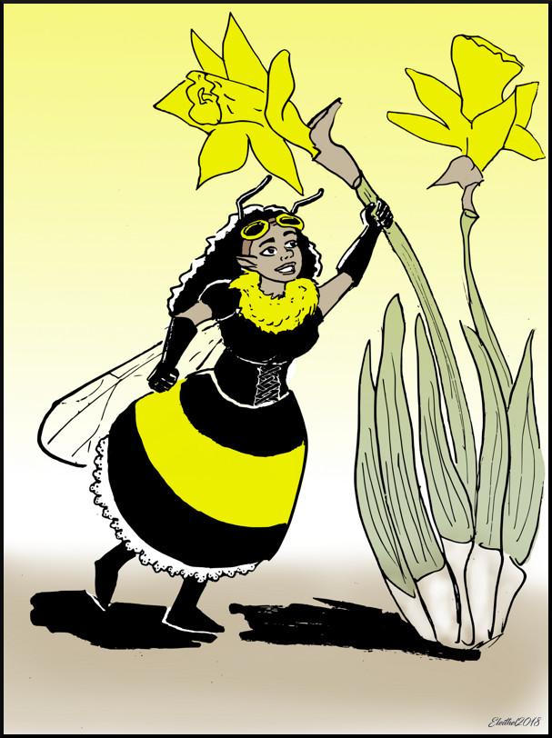 Bumblebee fairy by Eleithel