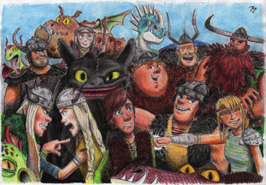 HTTYD - Group Photo by Contraltissimo