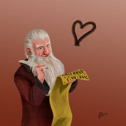 Hobbit Valentines ~ Balin by Contraltissimo