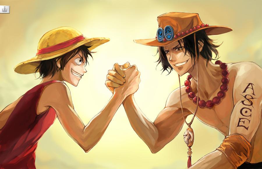 Luffy x Ace Brotherhood by koloromuj on DeviantArt