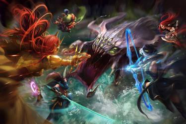 Baron Fight by koloromuj