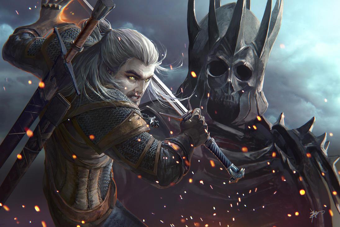 The Witcher : Wild Hunt Gerald by koloromuj