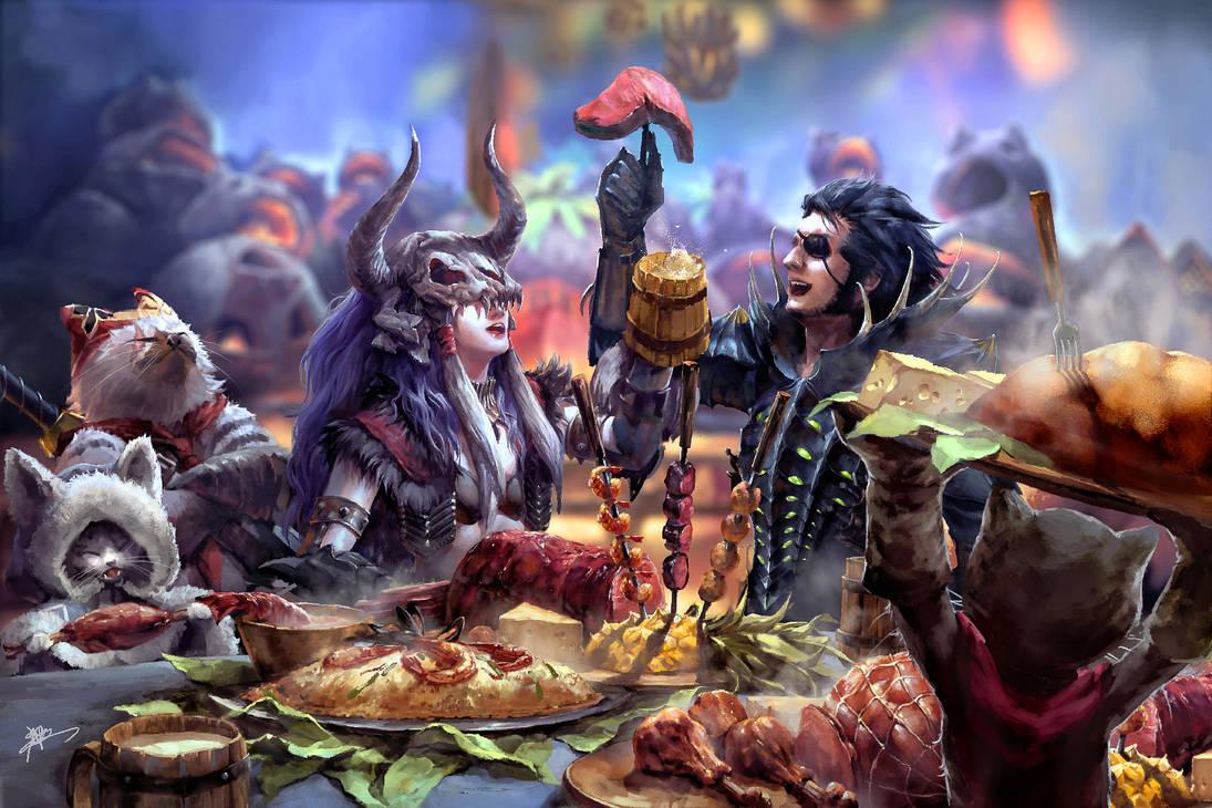 The Feast! by koloromuj