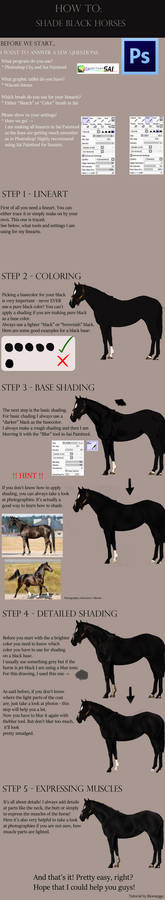 How to shade blacks | Tutorial