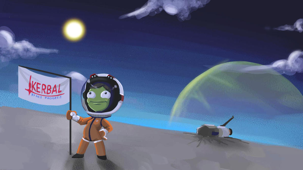 KSP First Girl on Laythe by George-Eracleous