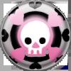 TWEWY Pin Lolita Skull by Blazin-Hearted