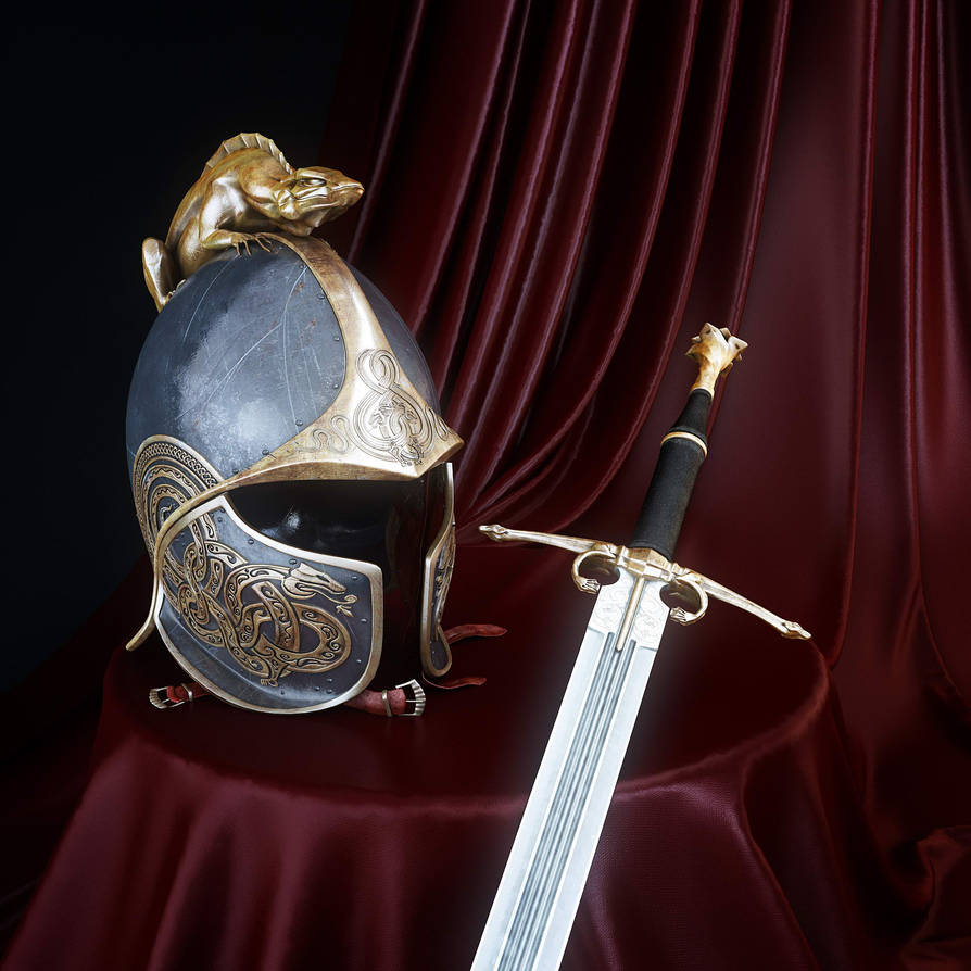 Dragon's Helm of Dor Lomin and Dragon's Sword 2