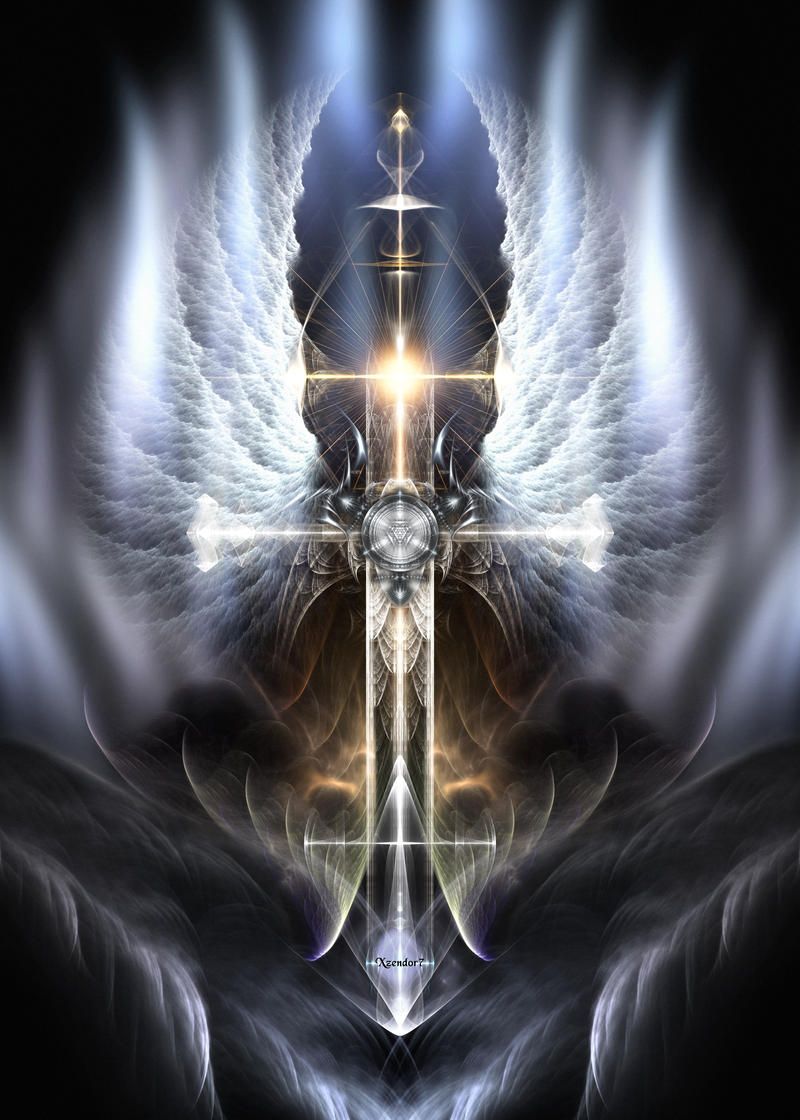 Heavenly Angel Wings Cross by xzendor7