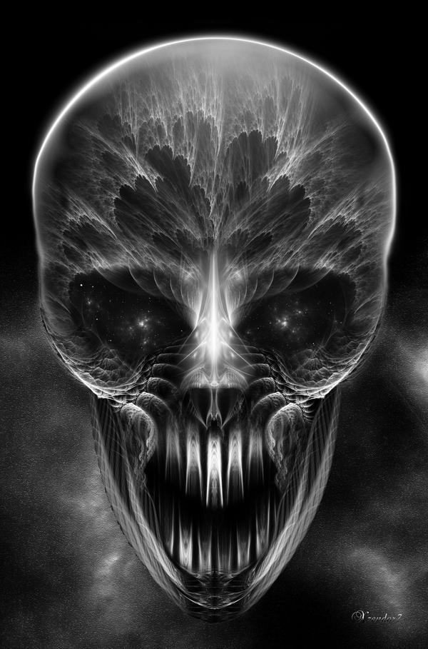 Fractal Gothic Skull by xzendor7