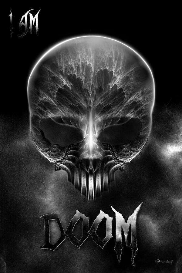 I Am Doom Fractal Skull by xzendor7