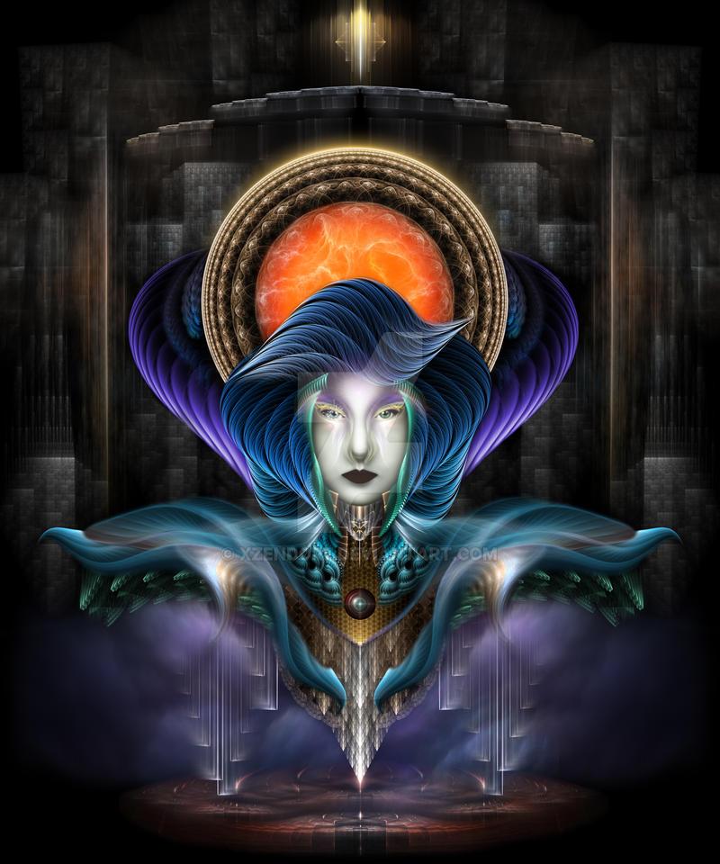 Trilia - Goddess Of The Orange Moon by xzendor7