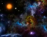 Nebula Menagerie Fractal Art Composition