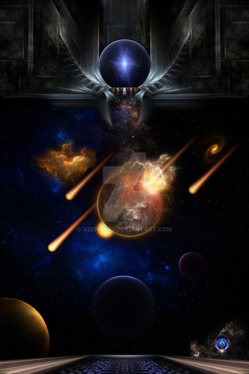 Asteroid Apocalypse Fractal Art Spacescape