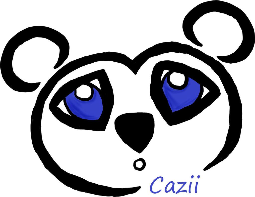 Panda logo by Caziiness on deviantART