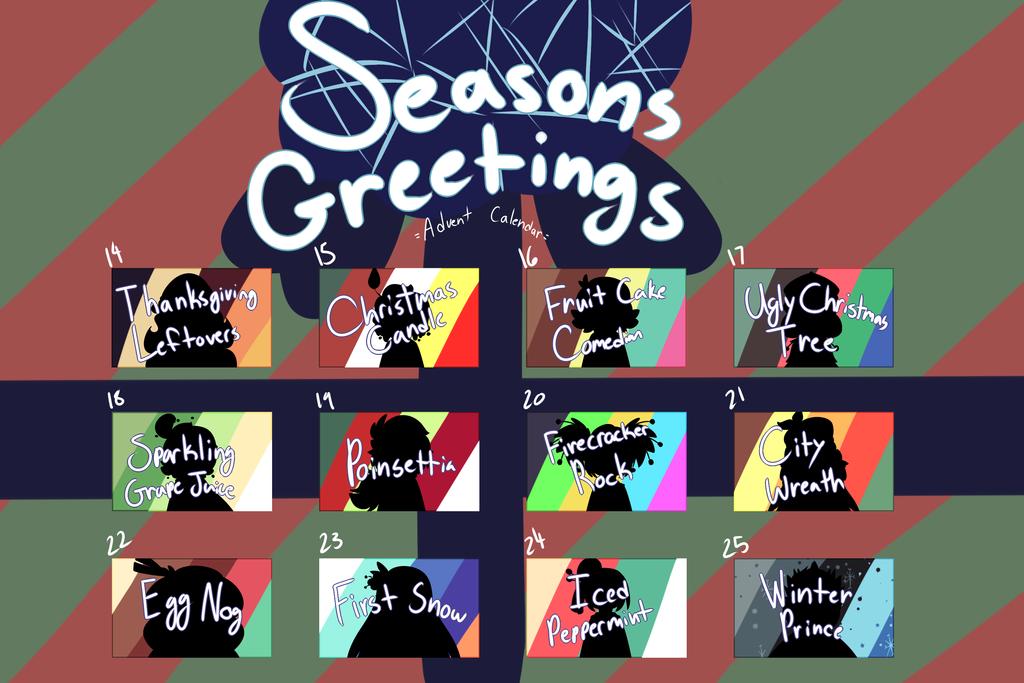 [CLOSED] Seasonal ADVENT CALENDAR by royalraptors