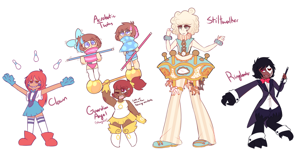 [SOLD] Circus-Themed Adopts -SALE- by royalraptors