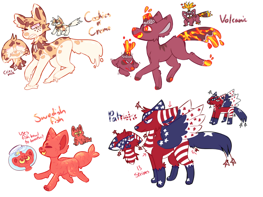 [SOLD] Feral One-Off Designs AUCTION-AB ADDED- by royalraptors