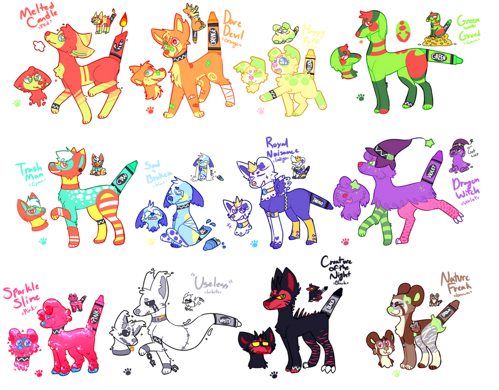 [SOLD] ''Butt Crayons''FLATSALE{90% OFF SALE} by royalraptors