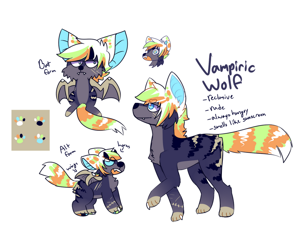 [SOLD] Vampiric Wolf -ONE OFF- AUCTION by royalraptors