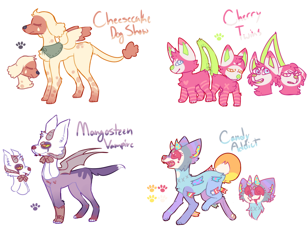 [SOLD] Tasty Pups ADOPTS by royalraptors