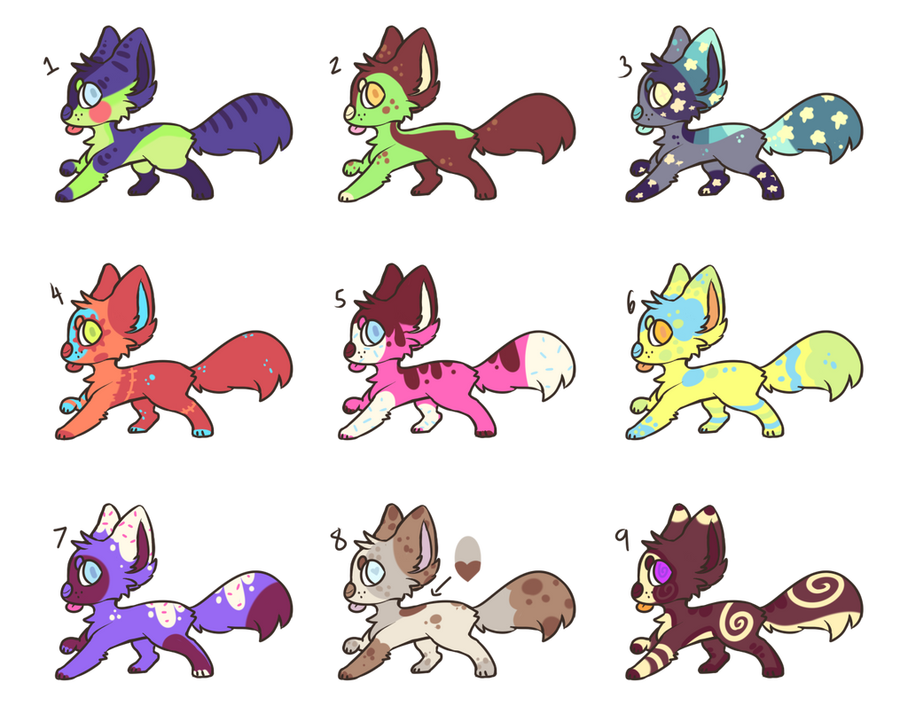[SOLD] Pupper Bleps CHEAP ADOPTS by royalraptors