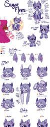 Sugar Flyer Ref Sheet Pt. 2 (new traits!!) by royalraptors