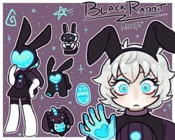 (SOLD) Black Rabbit Among Us Insp Adopt AUCTION