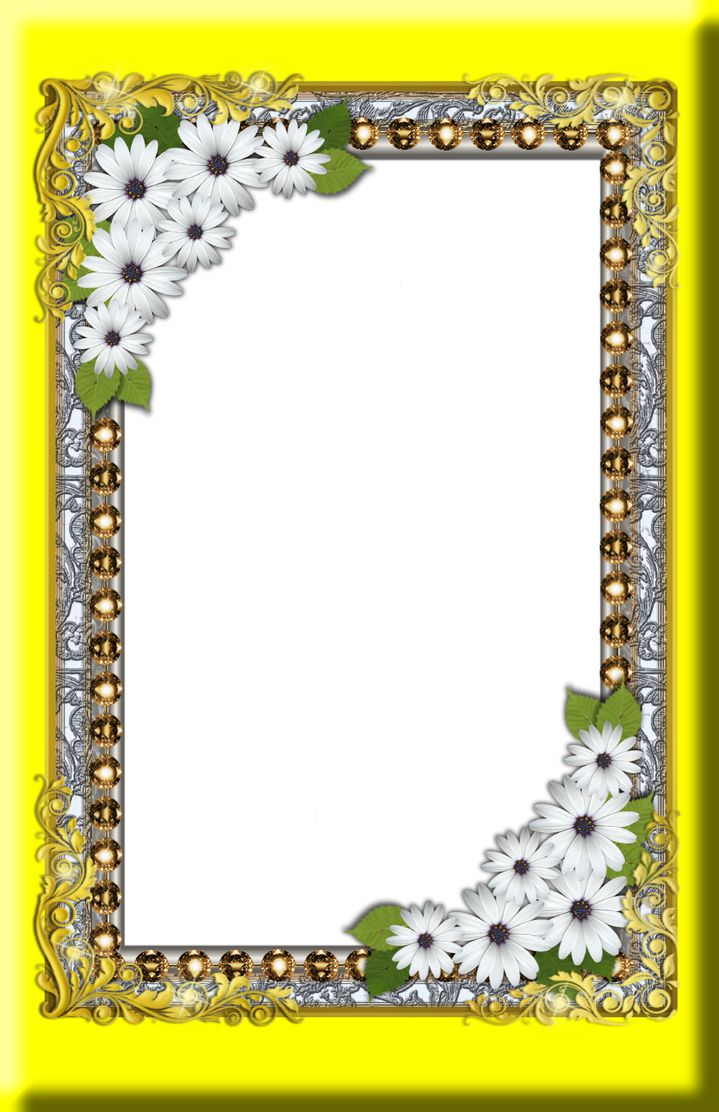 Golden Corner with Flowers and Diamond Frame by GautamDas1992 on ...