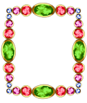 Colourful Gemstone Frame