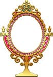 Golden-mirror-decorated-frame